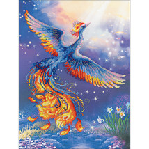 "RIOLIS Stamped Cross Stitch Kit 11.75""X15.75""-Bird Of Happiness (14 Count) - $37.07"