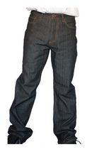 Dissizit! Gefahr 5-pocket Klassische Passform Raw Schwarz / Indigo Jeans Nwt image 3