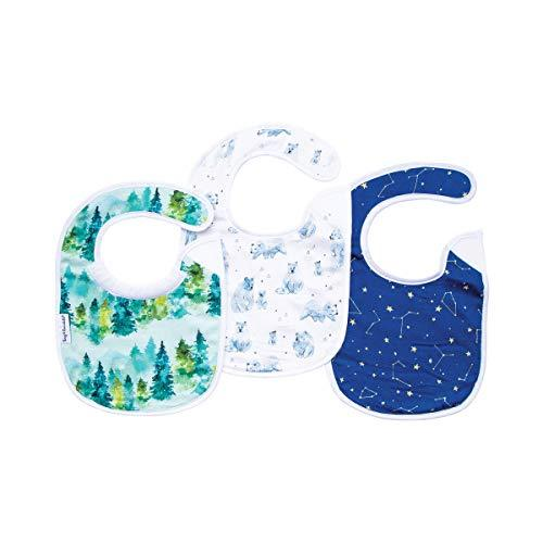 Tiny Twinkle Feeder Bib 3 Pack - Forest Bear - Absorbent and Waterproof Baby Bib