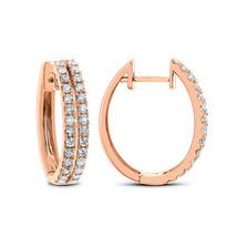 1.00 Ct Round Cut D/VVS1 Diamond Hoop Earring  Set In 14K Rose Gold Plated - $94.71