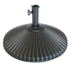 Round Patio Umbrella Base Plastic 23.4 inch Outdoor Umbrella Stand Holde... - $89.99