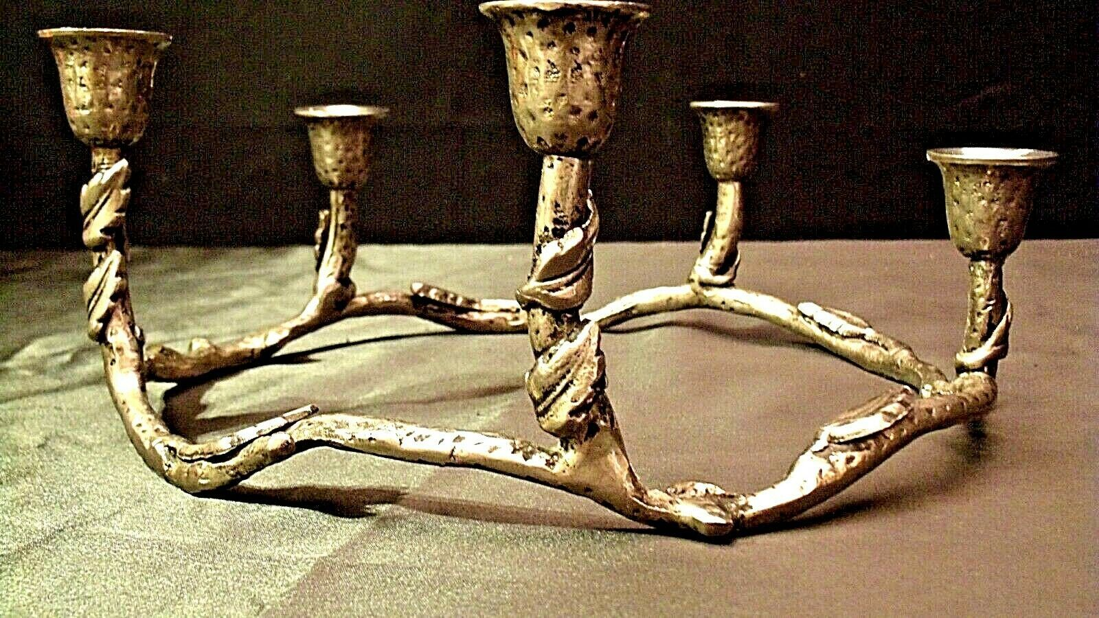 Circular Piece CandleHolder for 5 Candles AA20-2157 Vintage