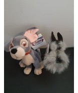 "Disney Tramp and Jock Mini Bean Bag Plush 8"" Dogs With Tags - $12.82"