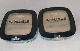 Set of 2: L'oreal Infallible Pro-Glow Powder Creamy Natural 22 - $9.16