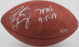 Peyton Manning Signed Full Size Wilson NFL Football 7 TD Inscript STEINE... - $558.99