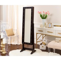 Free Standing Cheval Mirror and Jewelry Armoire Display w/ LED Lights & ... - €190,15 EUR