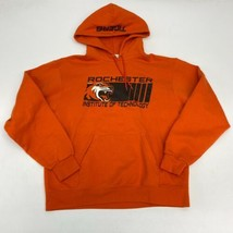 Champion Rochester Tigers Drawstring Hoodie Men's Medium Long Sleeve Orange - $24.95