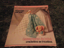 Baby Afghans Paton #1048 Couvertures de Bebe Crochet and Knit - $2.99