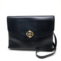 AUTHENTIC GUCCI Old Gucci 2 WAY Bag Clutch Bag Shoulder Bag Black Leather - $260.00