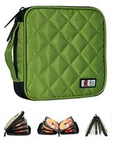 Various Colors 32 Capacity CD/DVD Wallet Auto Accessories CD Storage Green