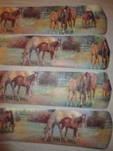 CUSTOM ~ GORGEOUS SOFT WATERCOLOR HORSES IN FIELD CEILING FAN * * * LAST... - $99.99