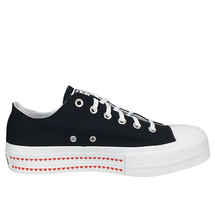 Converse Chuck Taylor All-Star Lift Ox Black White Hearts Love Platform 567158C - $59.99