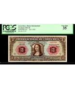 """COSTA RICA P167 FAMED """"MONA LISA"""" 1932 2 COLONES GRADED PCGS 35! Da Vinci - $4,450.00"""