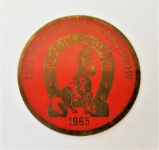 1965 vintage LUDWIG's CORNER HORSE SHOW glenmoore chester county pa EMBL... - $68.95