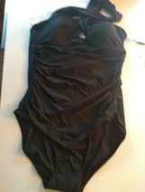 Calvin Klein Black Multi Wear Neck Line 4 Way Stretch One Piece Size 12 image 1