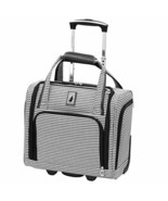 "15"" Under Seat Luggage Carry On 2 Wheel Suitcase Travel Bag Houndstooth ... - $138.74"