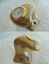 NAUTICAL QUARZ CLOCK for desk in brass - £37.81 GBP