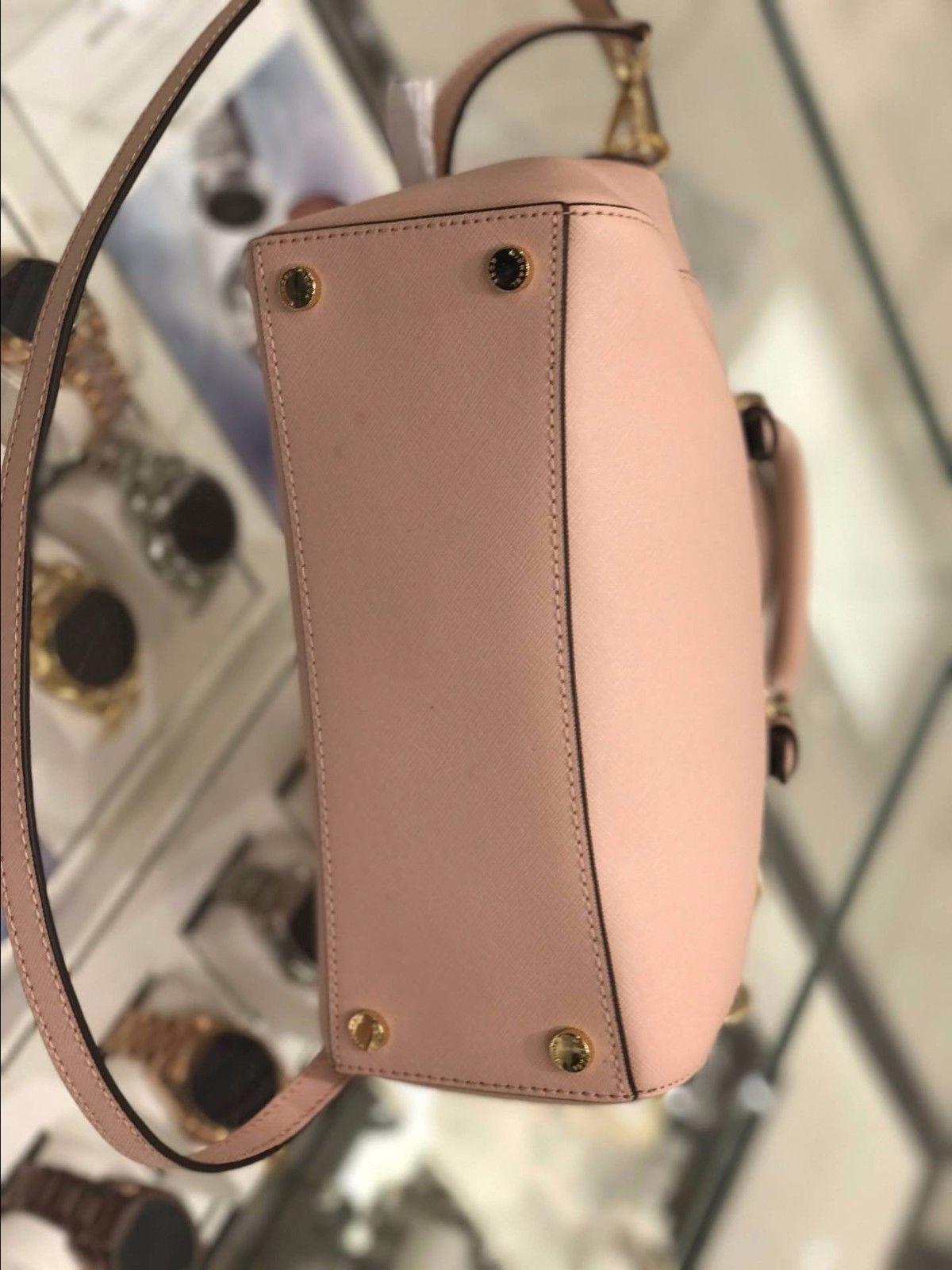 NWT Michael Kors Ciara Medium Top Zip Satchel Leather MK Ballet