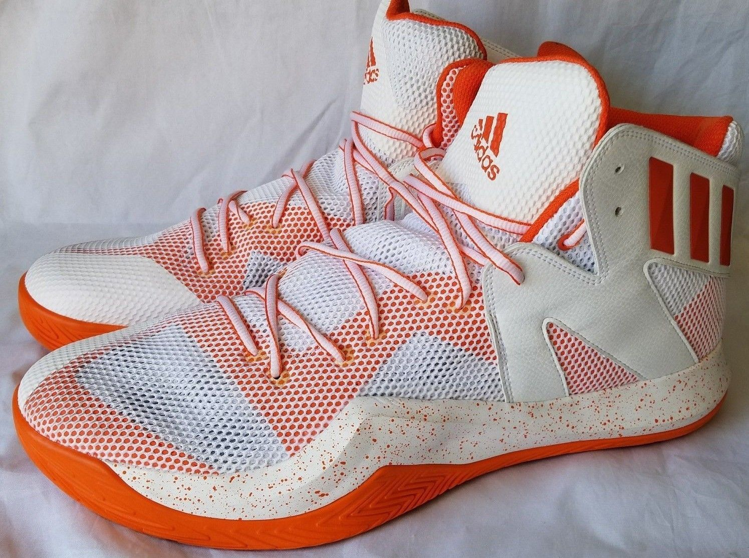 ed2b1e58d9bd6 Adidas Men s White Orange Crazy Bounce and 50 similar items. 57