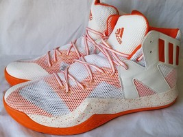 Adidas Men's White Orange Crazy Bounce Basketball Shoes Size 17 B39304 - $37.39