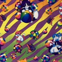 Lisa Frank Complete Sticker Sheet S215Zebra Print Butterflies Kittens Balloons image 2