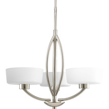 Brushed Nickel Finish Chandelier Progress lighting Calven Collection P45... - $266.31