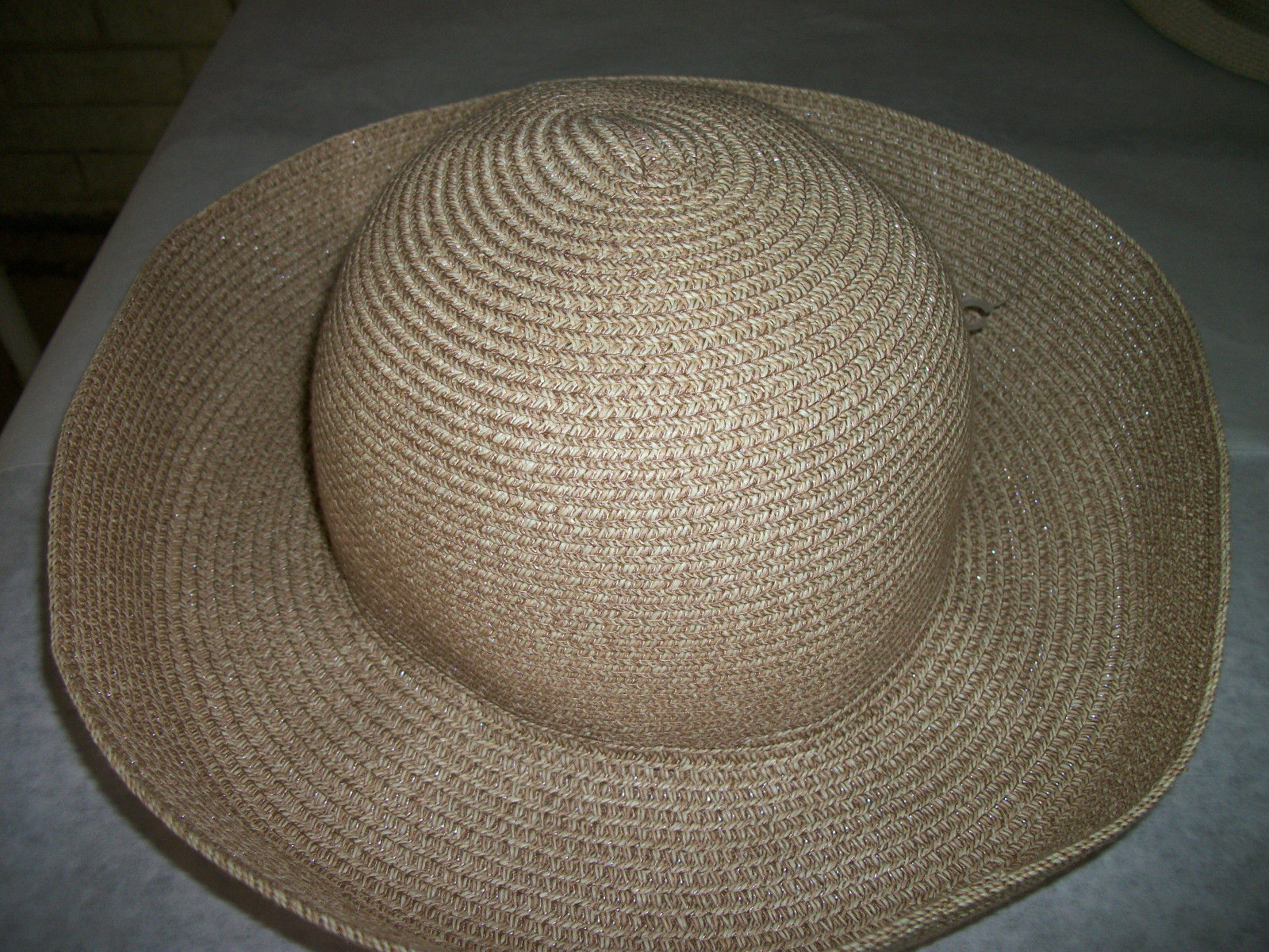 8f651a857bb56 ... BETMAR Women s Wide Brimmed Straw Sun Hat packable w RINK BOW