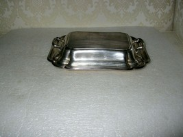 SILVER PLATED  COVERED VEGETABLE DISH - $15.00