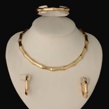2018 HOT dubai Filled Women Party Jewelry Set Women Wedding Necklace Bracelet Ea - $24.13