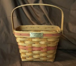 Longaberger 1989 Red Holiday Memory Basket With Swing Handle - $7.00