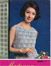 Vintage 1969 Crochet Book-Madonna Crochet Book Number 5-ONDORI Pub.-Japan - $12.16