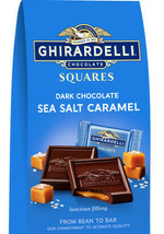 Ghirardelli Dark Chocolate Sea Salt Caramel Squares 10.1oz ~ Fast Free Shipping! - $15.72