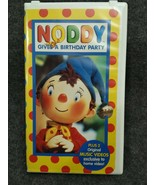 VHS Noddy Gives A Birthday Party, Noddy The Dancer, Noddy Gets In A Mess - $29.97
