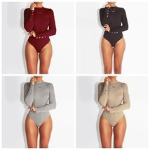 Fashion Sexy Womens Ribbed Jumpsuit Bodycon Bodysuit Leotard Top Blouse ... - $28.56
