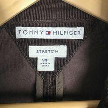 Tommy Hilfiger Corduroy Blazer Jacket Women's S Brown Stretch Button Long Sleeve image 10
