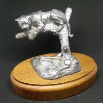 MA Ricker Bartlett  Mnt Lion Panther Leopard Puma Wild Cat Tree Pewter F... - $95.73