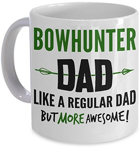 Primary image for Bowhunter Dad Coffee Mug Fathers Day Gift Cup Archery Bow Hunting PicksPlace