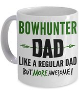 Bowhunter Dad Coffee Mug Fathers Day Gift Cup Archery Bow Hunting PicksP... - $14.95