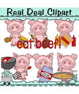 Piglets Barbecue Clip Art - $1.25