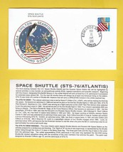 STS-76 ATLANTIS EDWARDS AFB CA MARCH 31 1996 WITH INSERT CARD - $1.78