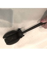 Vintage primitive musical instrument wooden hand held cymbal African sha... - $38.00