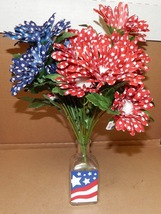 "Ashland Summer Heritage USA Flowers 14"" Tall & Vase 5"" x 2"" American Dec... - £8.98 GBP"