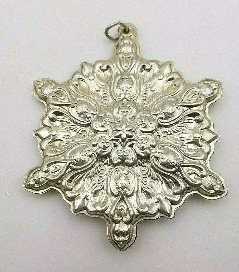 Primary image for 1997 Towle Sterling 8th Edition Old Master Snowflake Ornament #8239