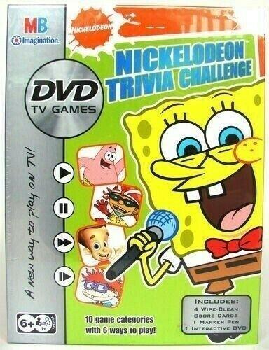 Nickelodeon Trivia Challenge DVD TV Game with Spongebob Squarepants