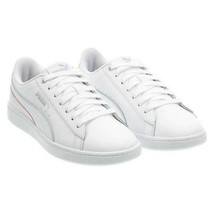 Puma Vikky V2 Women's Leather Sneakers Walking Court Shoe White Pink Size 6 - $19.79