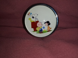 Peanuts Cartoon  Custom Unique Round Pill Box - $15.99