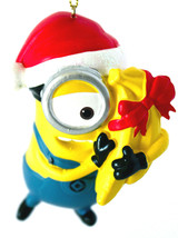 Carl- Despicable Me-Minion Ornament-Santa Hat and Bananas-Holiday! - $8.54