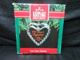 """Hallmark Keepsake """"Forty Years Together"""" 1991 Facet Glass Ornament NEW - $2.48"""