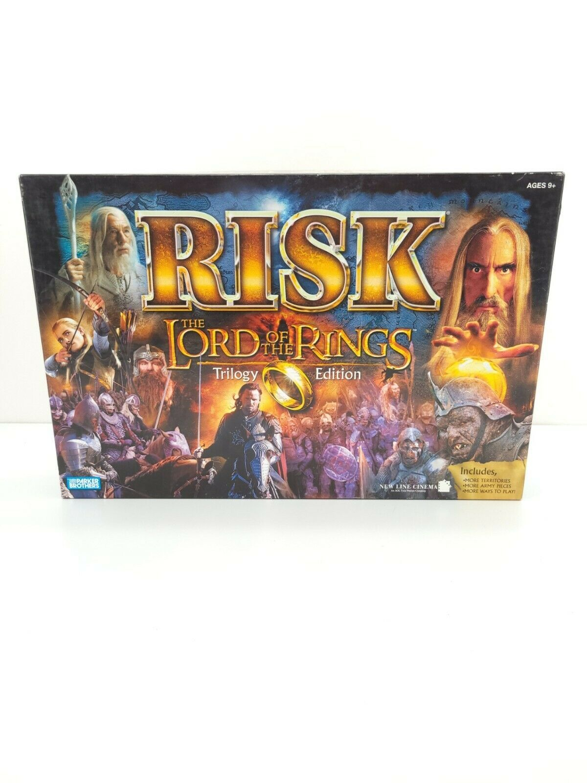 Parkers Brothers Risk The Lord Of The Rings Trilogy Edition Booklet Gameboard - $74.76