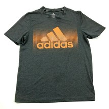 Adidas Climalite Dry Fit Shirt Youth Size Large 14 / 16 Boys Gray Short ... - $17.83